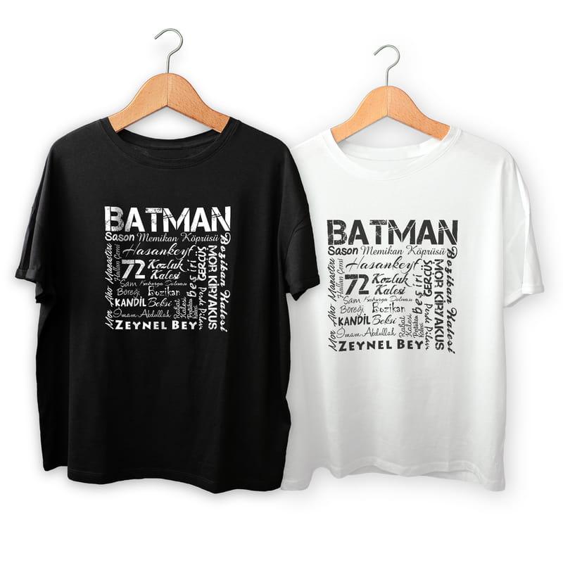 Batman İline Özel Memleket Tasarımlı Baskılı Tişört