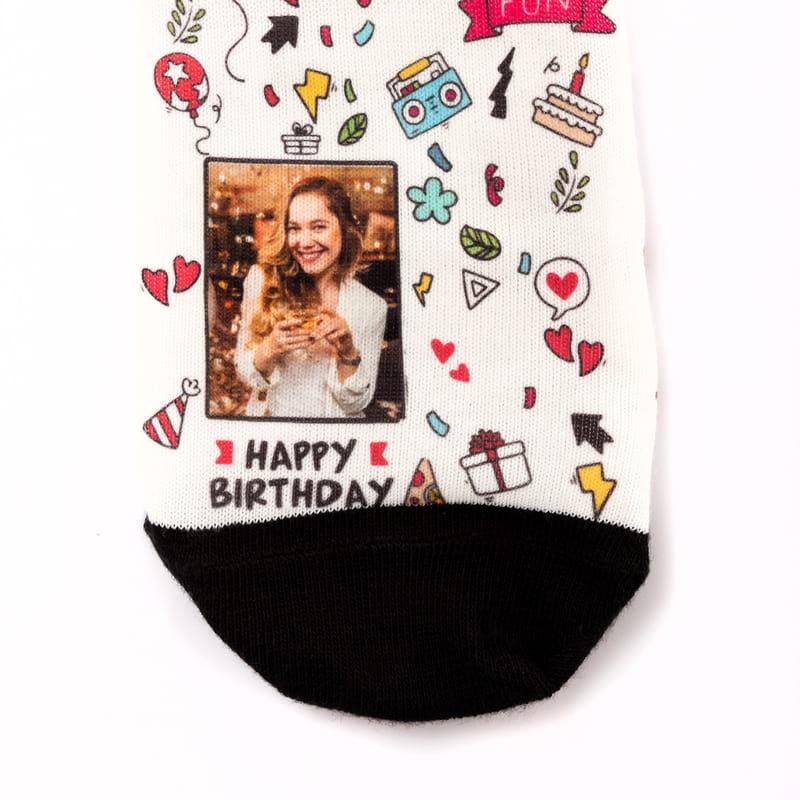 Doğum Günü Hediyesi Fotoğraf Baskılı Esprili Baskılı Çorap