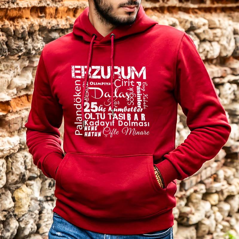 Erzurumlu Arkadaşa Hediye Kapüşonlu Sweatshirt