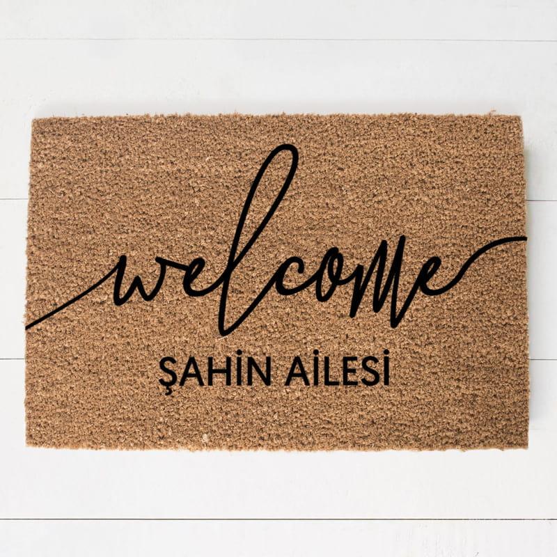 Evli Arkadaşlara Hediye Kişiye Özel Welcome Kapı Önü Paspas