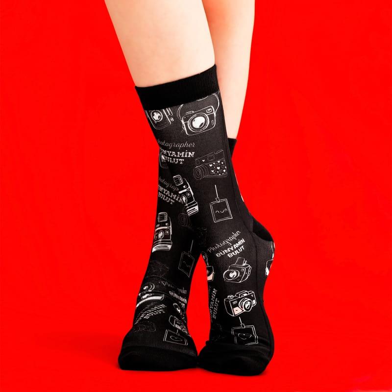 Fotoğrafçı Arkadaşa Hediye Kişiye Özel Esprili Çorap