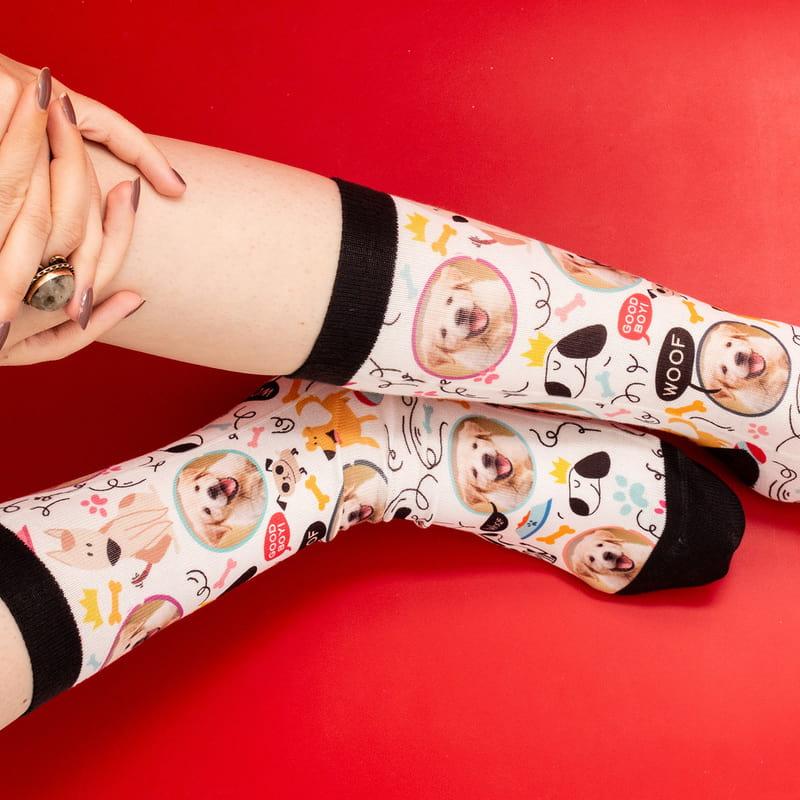 Hayvan Severlere Hediye Fotoğraf Baskılı Esprili Çorap