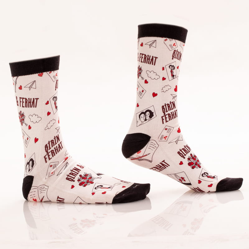 Her Daim Aşıklara Özel İsme Özel Baskılı Esprili Çorap