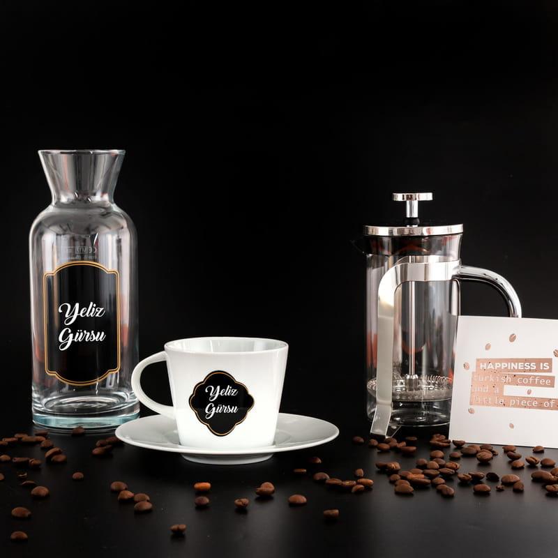 İsim Yazılı Coffee Time Hediye Kutusu