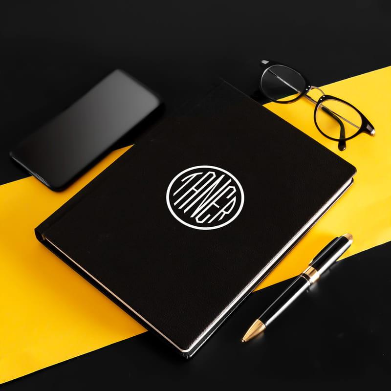 İsme Özel Monogram Logo Tasarımlı Ajanda