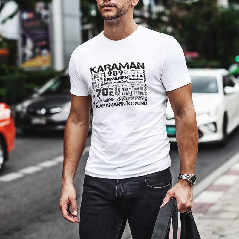 Karaman Özellikleri Tasarımlı Baskılı Tişört