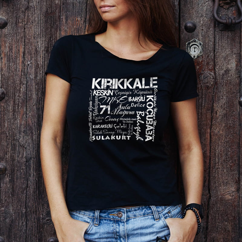 Kırıkkale İline Özel Memleket Tasarımlı Baskılı Tişört