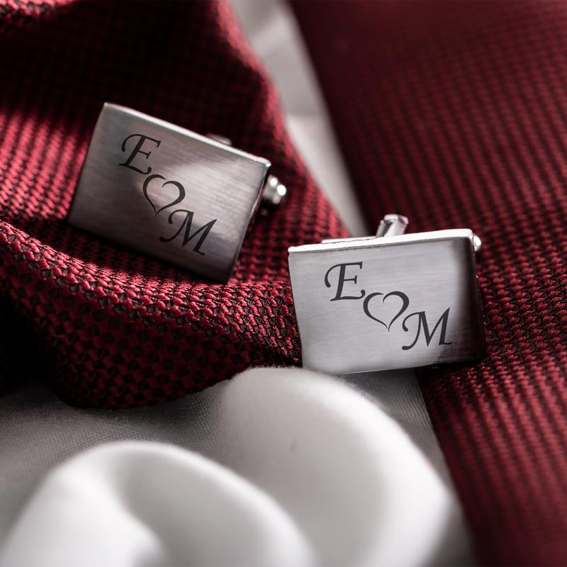 Kişiye Özel Kol Düğmesi Sevgililere Özel