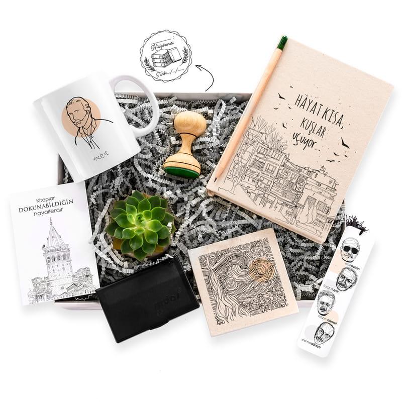 Kitap Kurtlarına Özel Minimal Hediye Kutusu