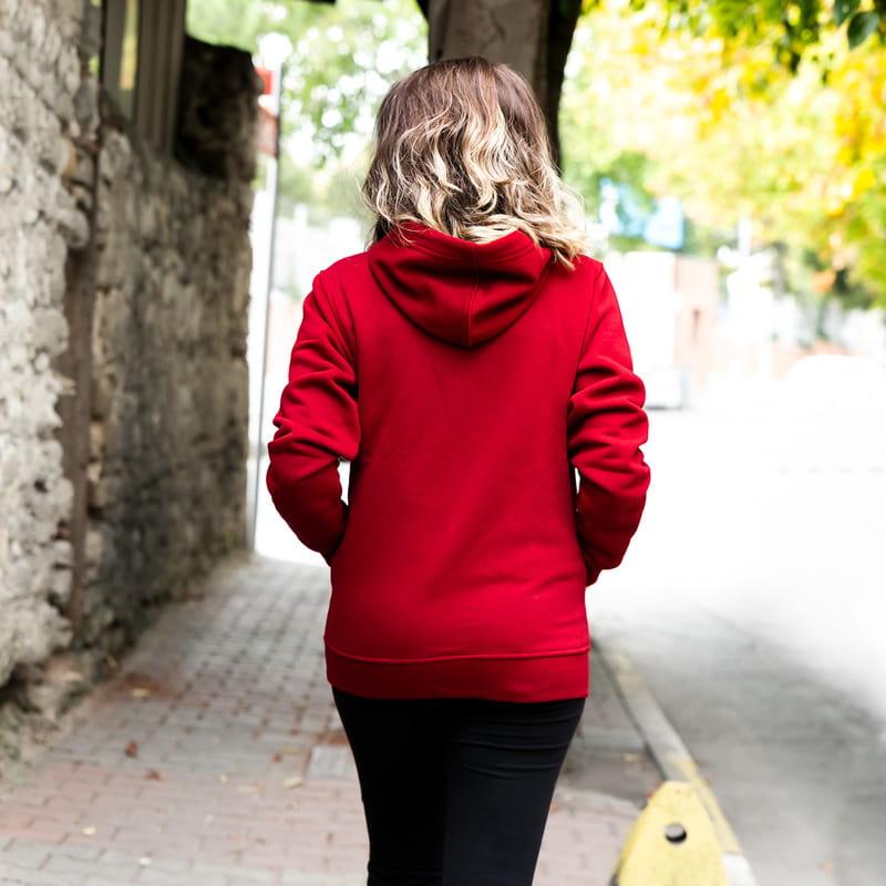 Kolej Tasarımlı Kişiye özel Kapşonlu Sweatshirt