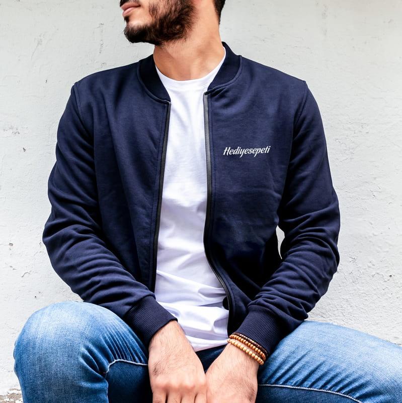 Kurumsal Firmalar İçin Logo İşlemeli Fermuarlı Sweatshirt
