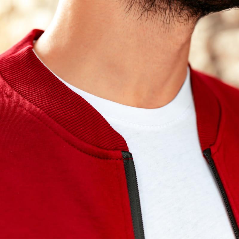Mustafa Kemal Atatürk İmza Nakış İşlemeli Fermuarlı Sweatshirt
