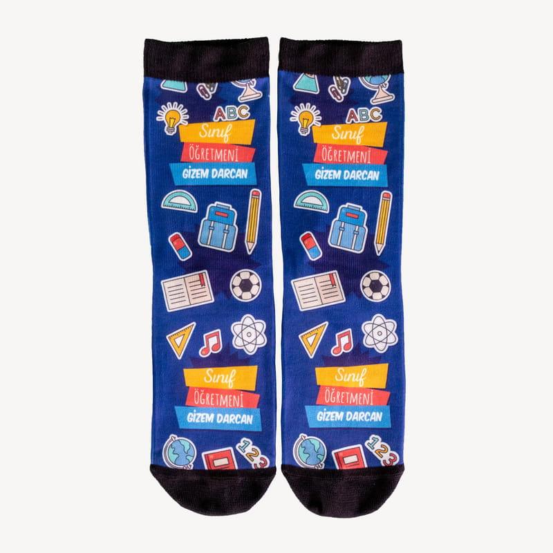 Öğretmenler Günü Hediyesi Kişiye Özel Çorap