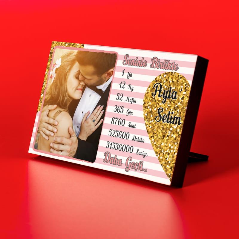 Sevgiliye 1 Yıl Hediyesi Fotoğraf Çerçevesi