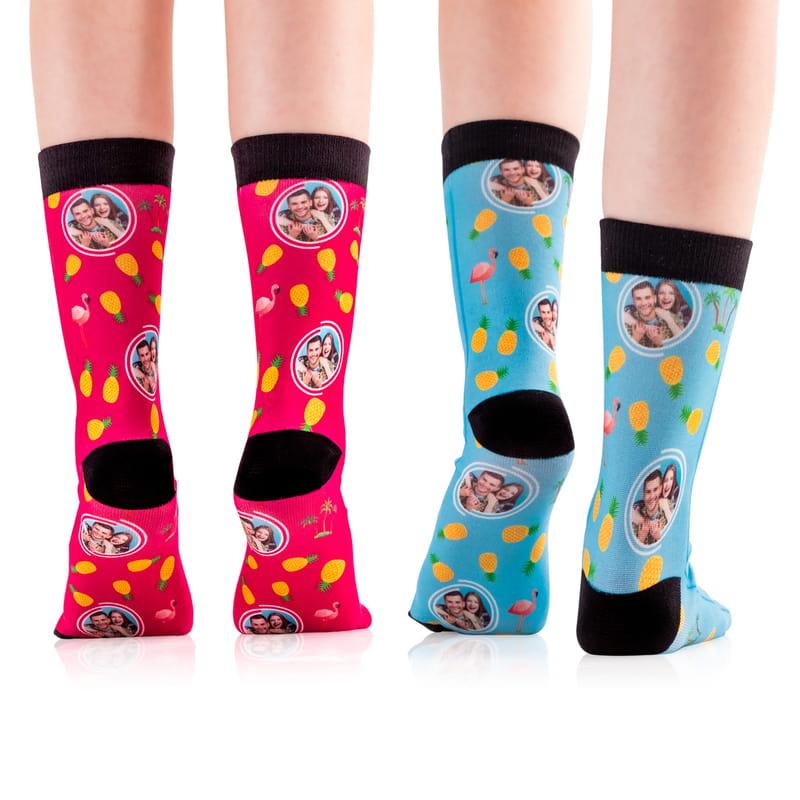 Sevgiliye Hediye Fotoğraf Baskılı Renkli Çorap