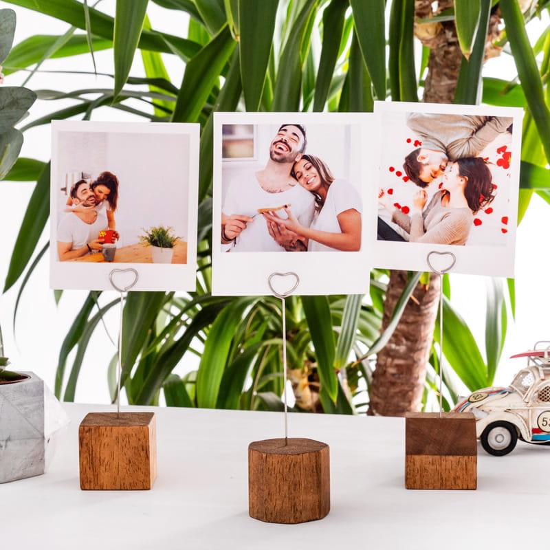 Sevgiliye Hediye Kalpli Fotoğraf Tutucu Set