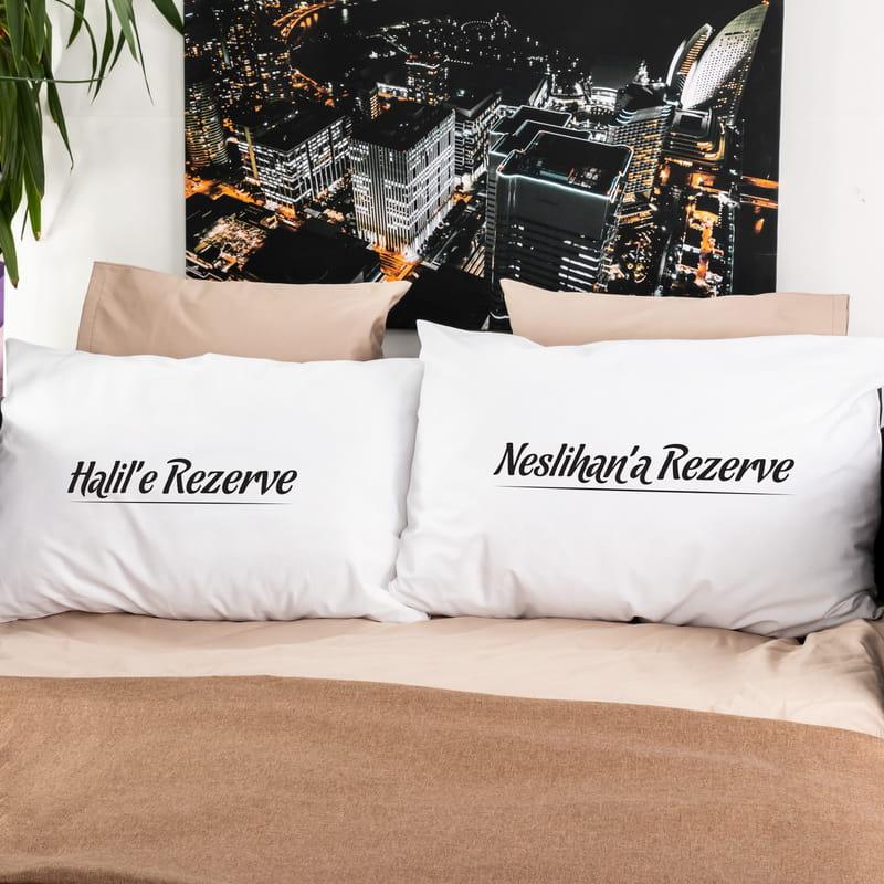 Sevgiliye Hediye Rezerve 2li Yastık Kılıfı Seti