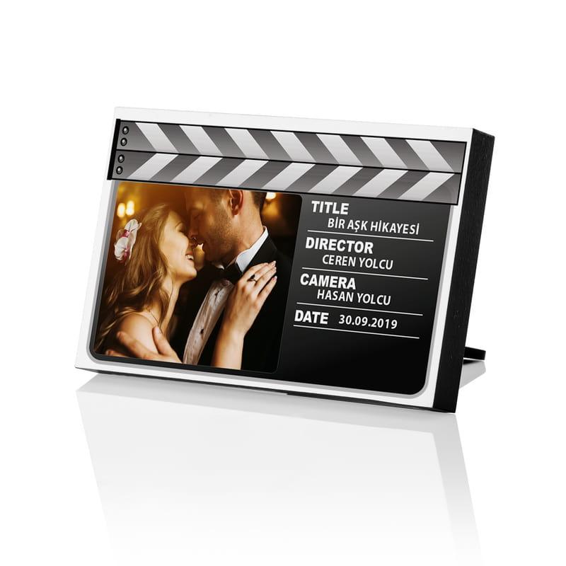 Sinema Kliketi Tasarımlı Baskılı Mini Fotoğraf Çerçevesi
