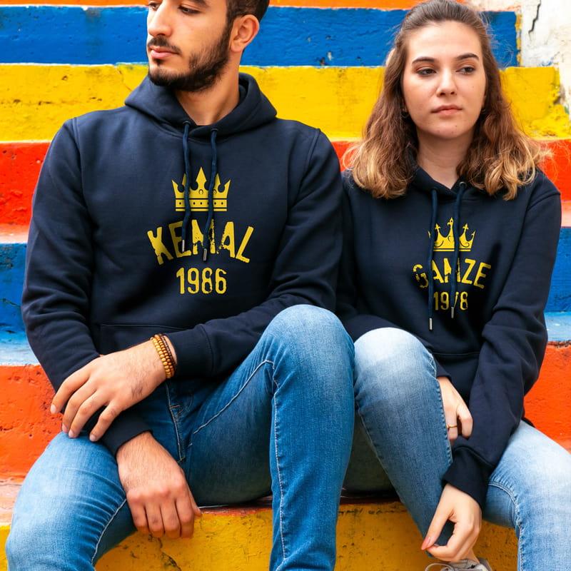 The King & Queen Kapşonlu Sevgili Kombini