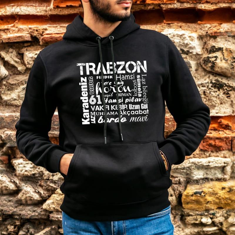 Trabzonlu Arkadaşa Hediye Kapşonlu Sweatshirt
