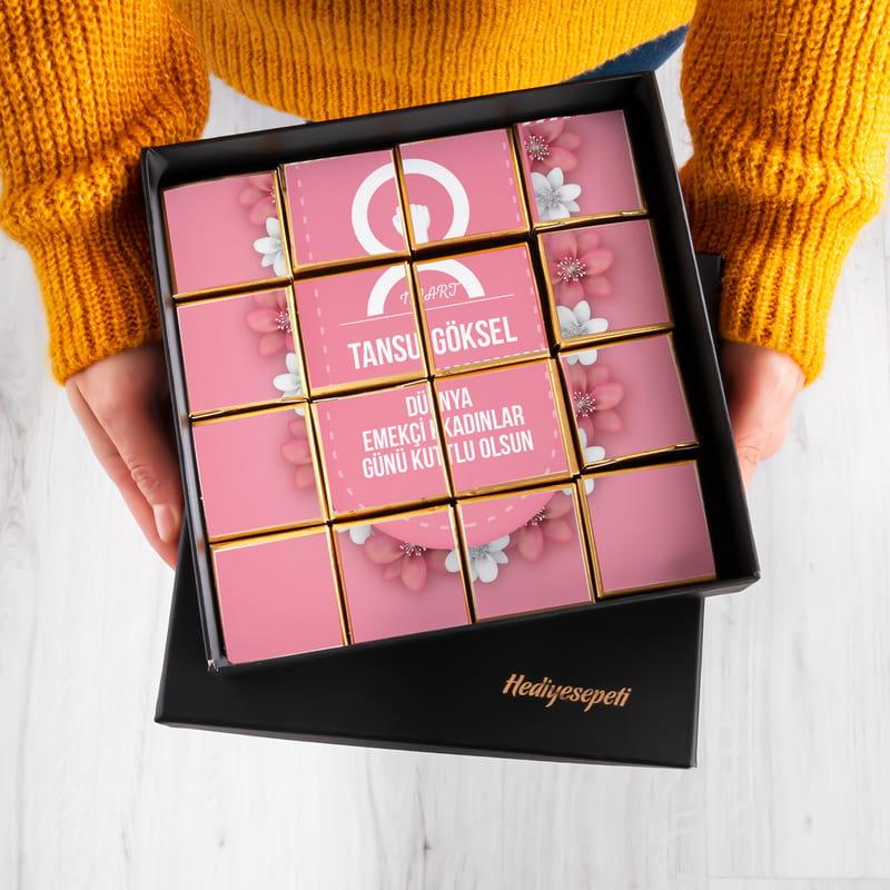 8 Mart Kadınlar Günü Hediyesi Puzzle Çikolata