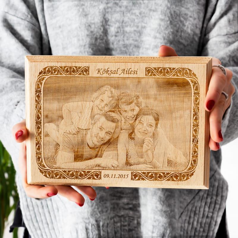 Aile Resminize Özel Mini Ahşap Foto