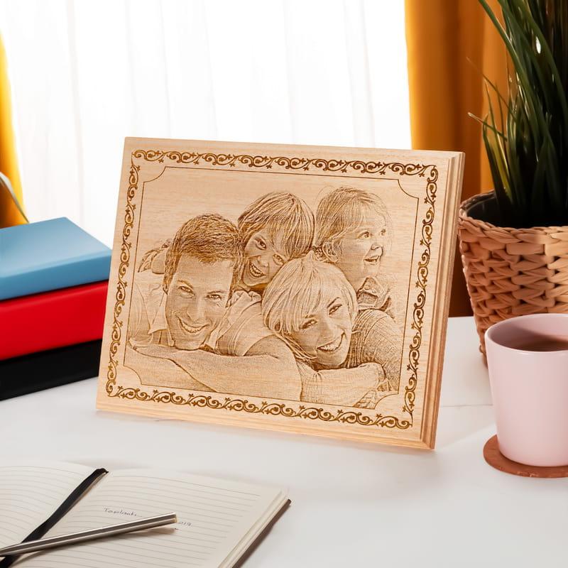 Ailenize Özel Ahşap Foto