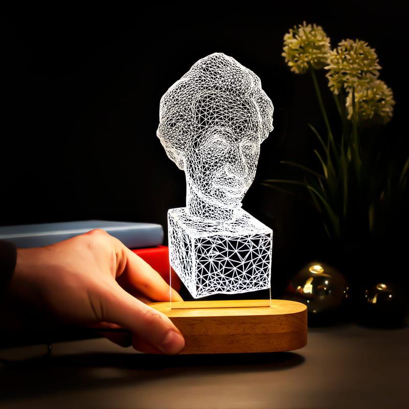 Albert Einstein Büst Tasarımlı Led Lamba