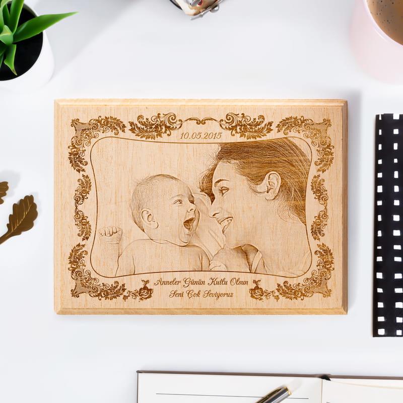Anneler Günü Hediyesi Mini Ahşap Foto