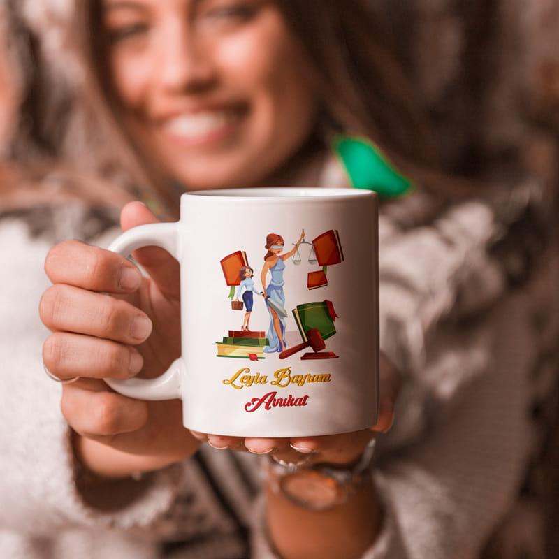 Avukatlara Özel Mutlu Mesut Kahve Kupası