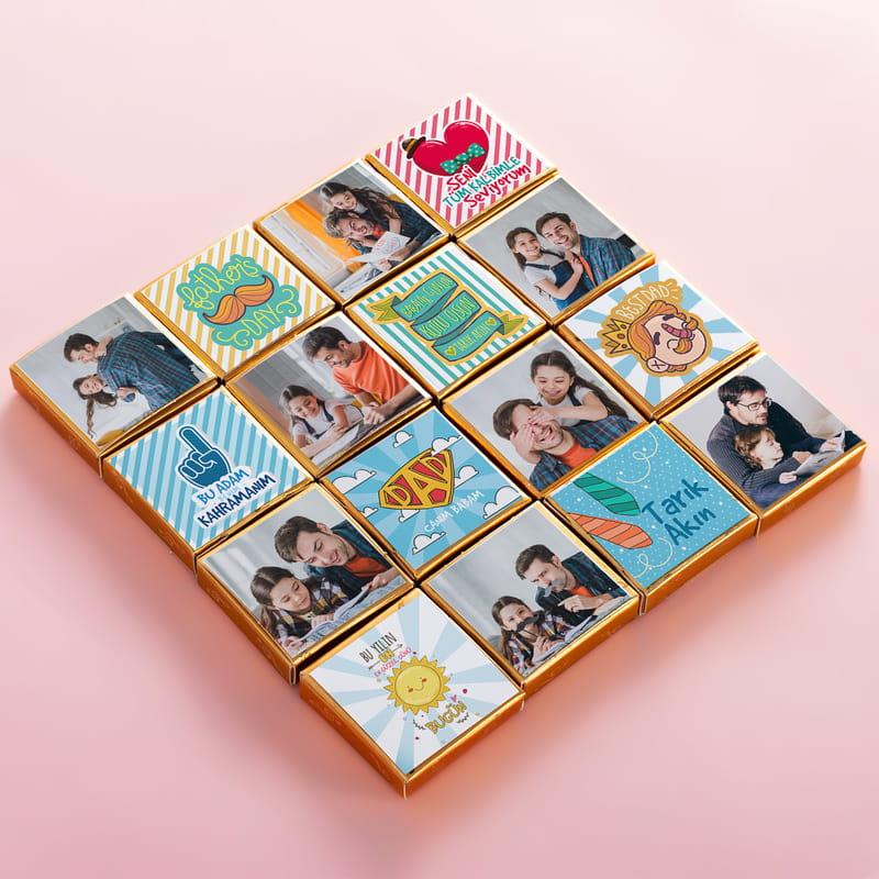 Babalar Günü Hediyesi Kişiye Özel Puzzle Çikolata