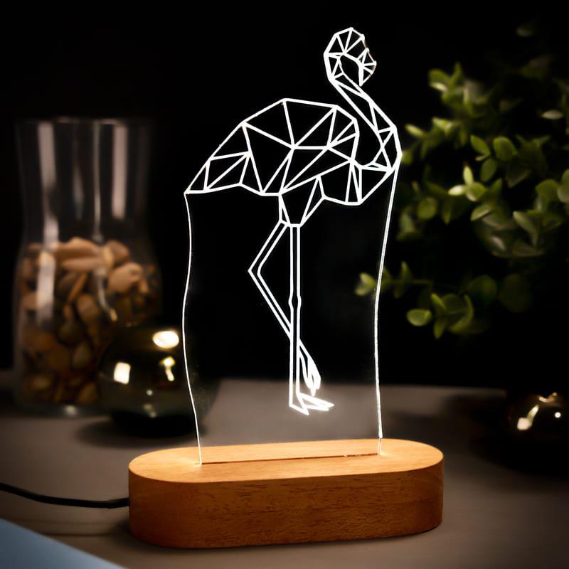 Flamingo Tasarımlı Led Lamba