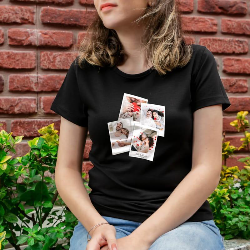 Fotoğraf Kolaj Baskılı İsimli Tişört