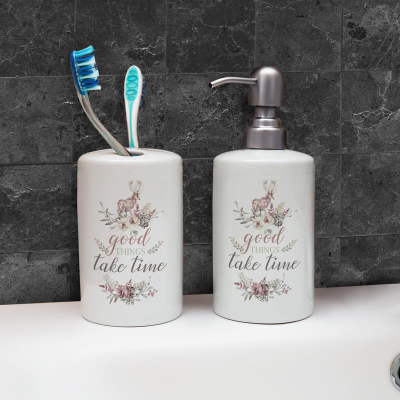 Güzel Şeyler Zaman Alır Mottolu Hediye Banyo Seti