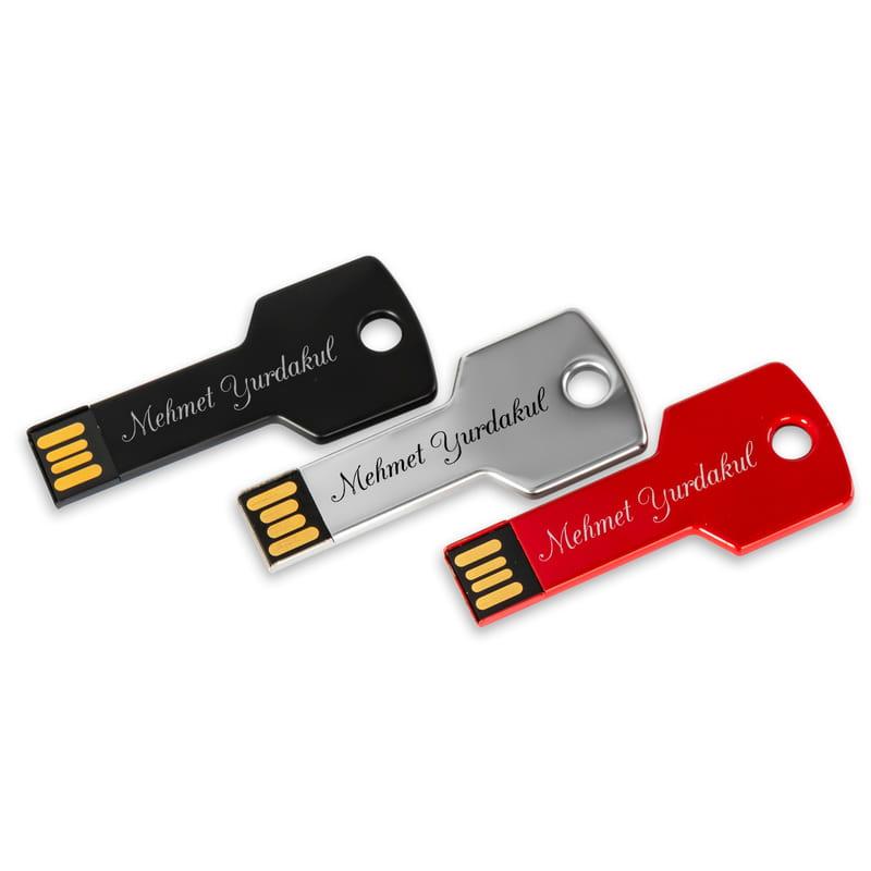 İsim Yazılı Anahtar Tasarımlı 16 gb USB Bellek