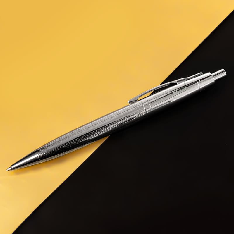 İsme Özel Metalik Gri Renkli Tükenmez Kalem