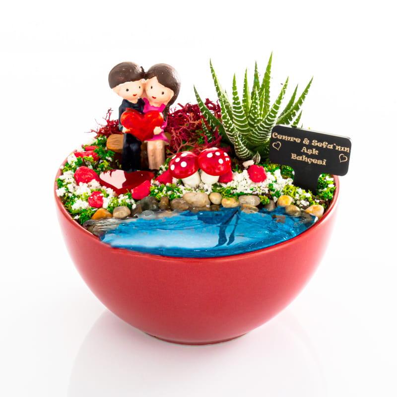 Kalbim Hep Senin İçin Atacak Temalı Minyatür Bahçe