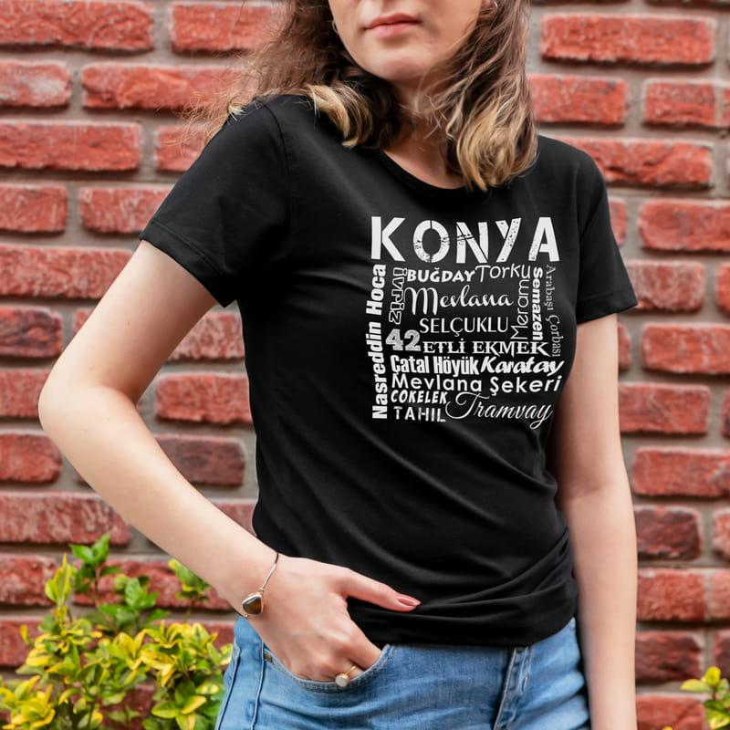 Mevlana Şehri Konya tasarımlı Baskılı Tişört