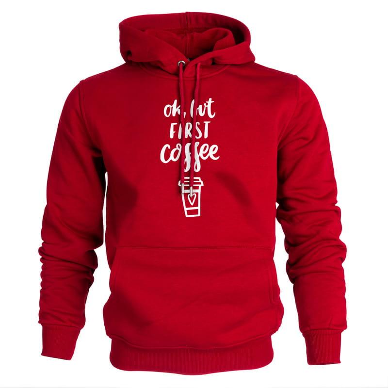 Ok But First Coffee Kapşonlu Sweatshirt