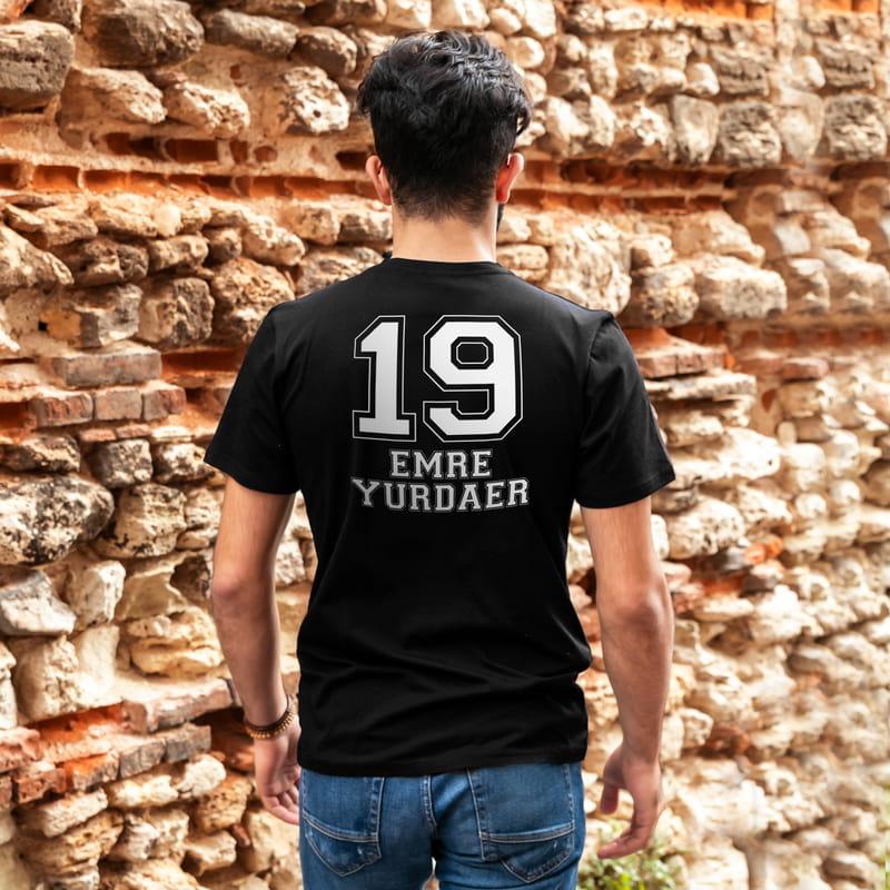 Rakam ve İsim Yazılı Tişört