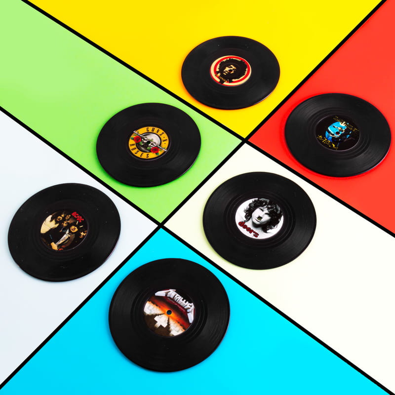 Rock Müziğin İkon Grupları 6 lı Plak Bardak Altlığı