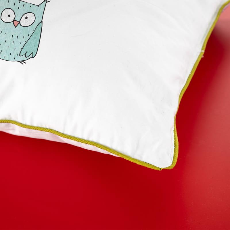 Sendromsuz Pazartesi Hediyesi Mottolu Minimal Baykuş Tasarımlı Yastık