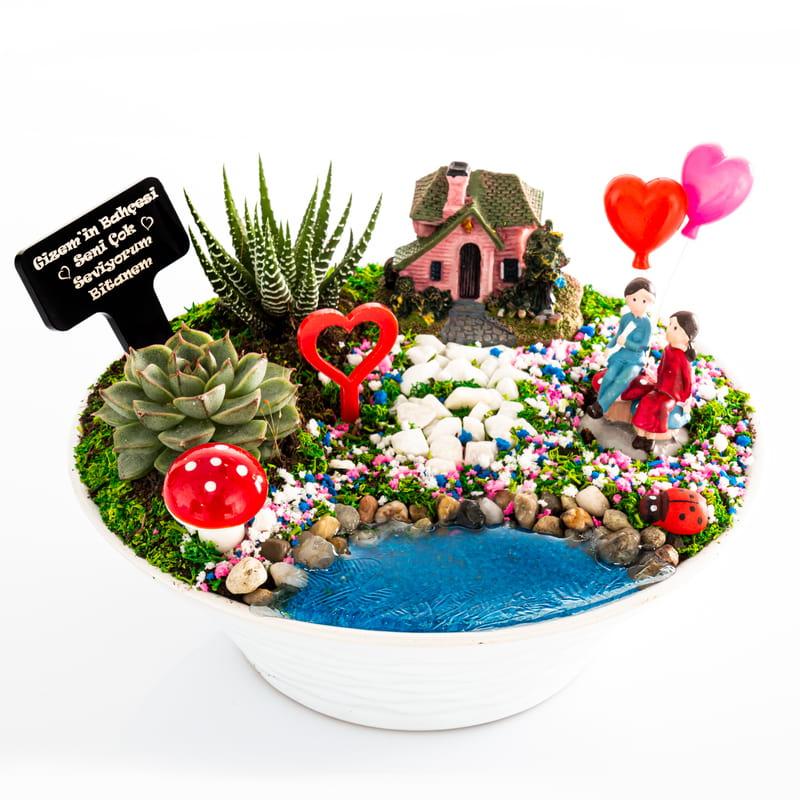 Sevgiliye Hediye Hayal Evi Minyatür Bahçe