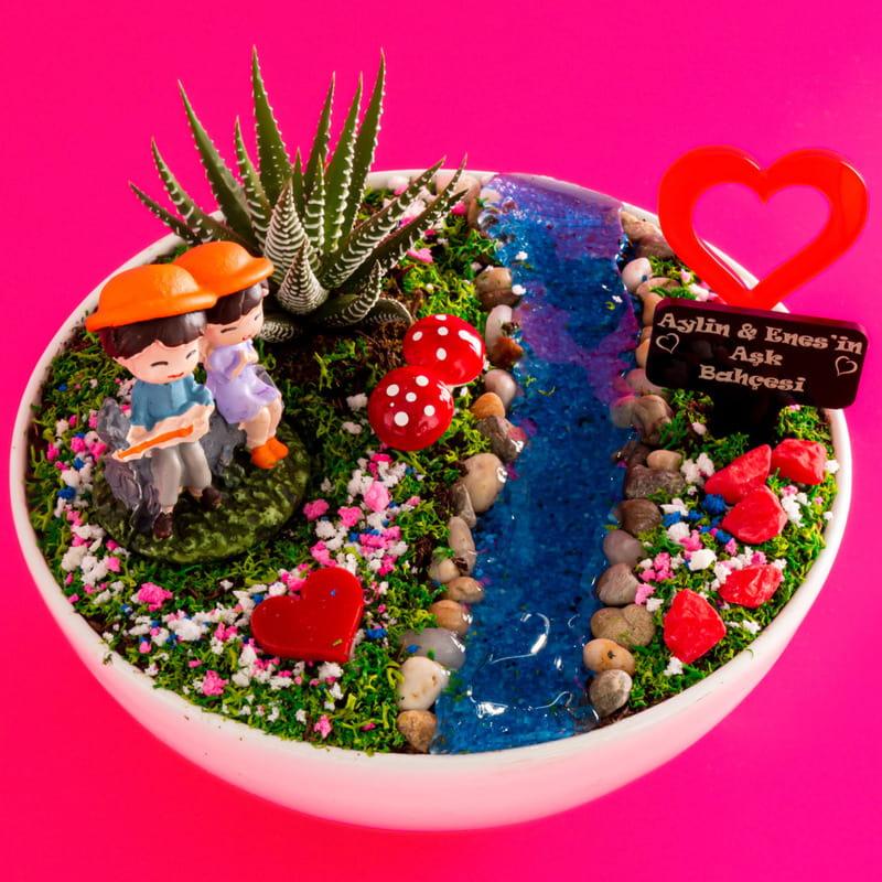 Sevgiliye Hediye Mutlu Çiftler Aşk Bahçesi