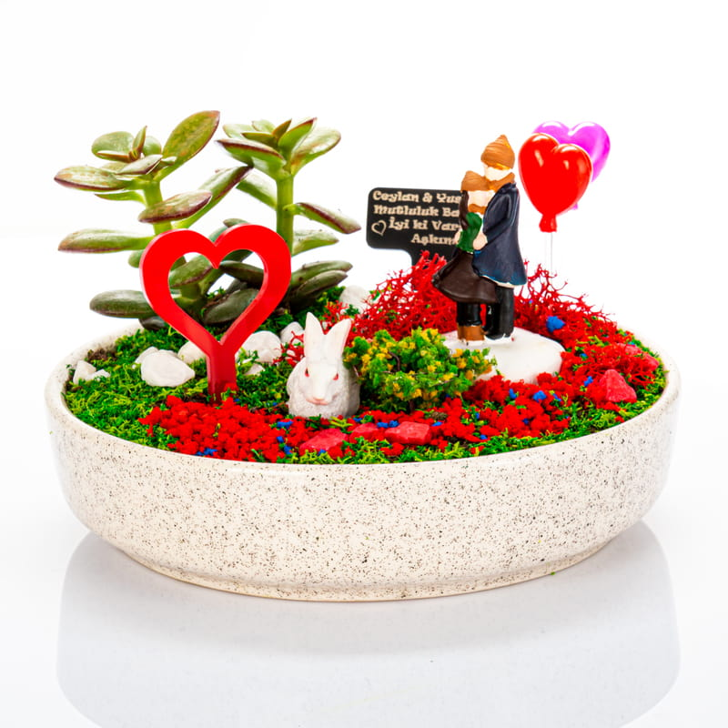 Sevgiliye Hediye Sonsuza Kadar Seninleyim Minyatür Bahçe