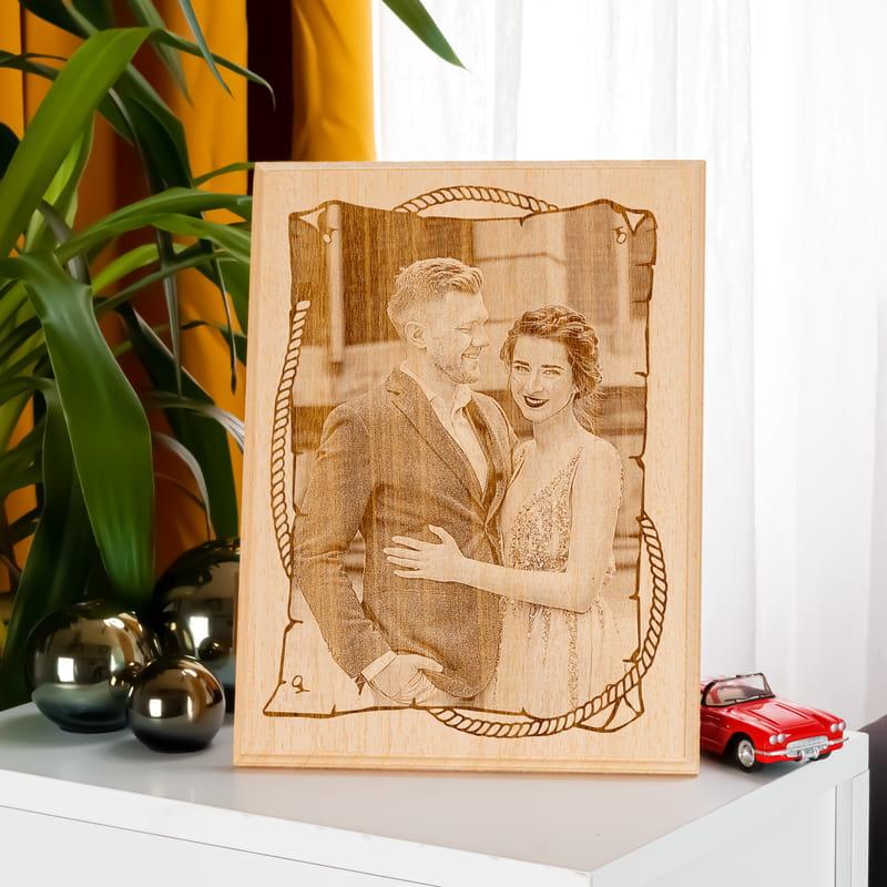Sevgiliye Özel Ahşap Foto