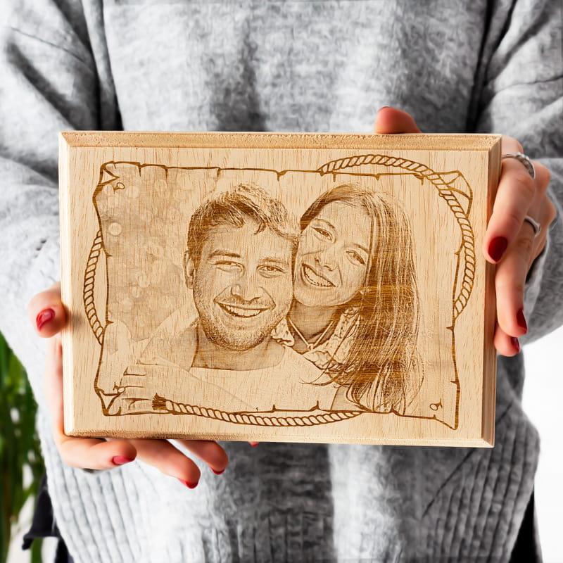 Sevgiliye Özel Mini Ahşap Foto