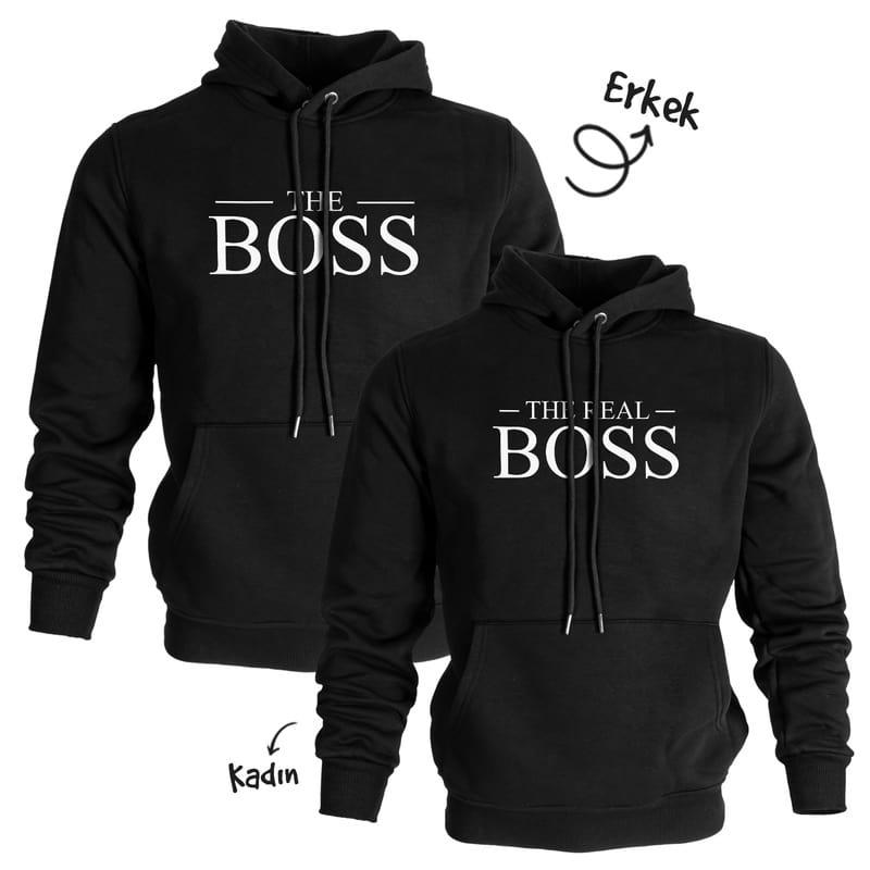 The Boss Kapşonlu Sweatshirt Sevgili Kombini