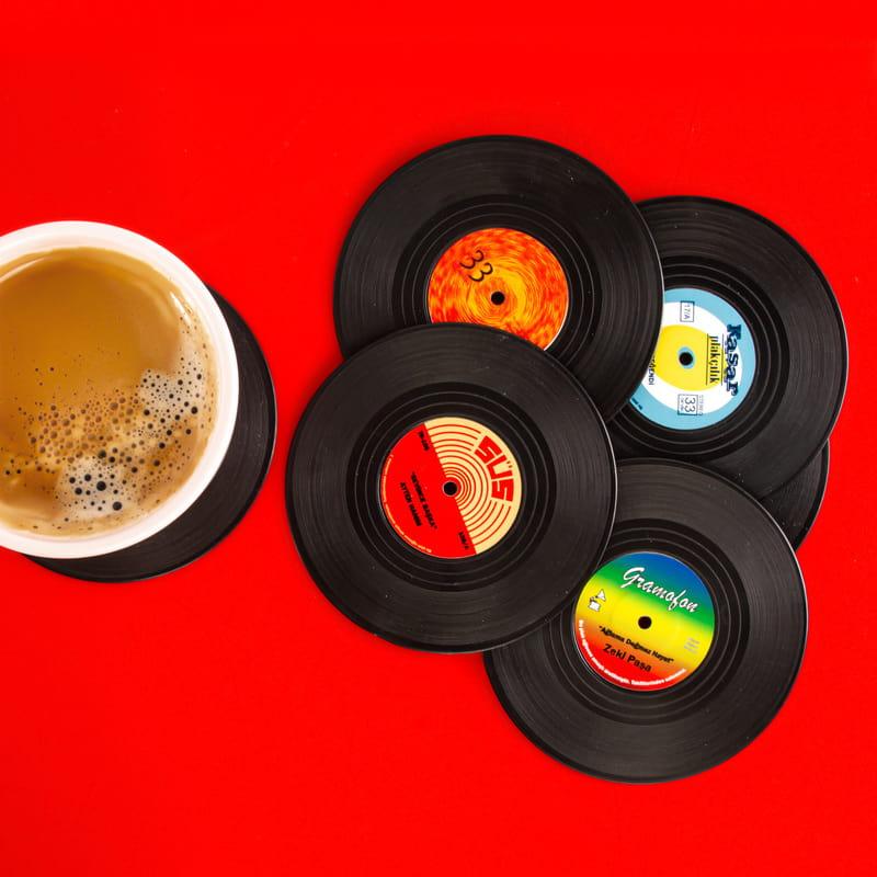 Türkçe Klasik Müzik 6 lı Plak Bardak Altlığı