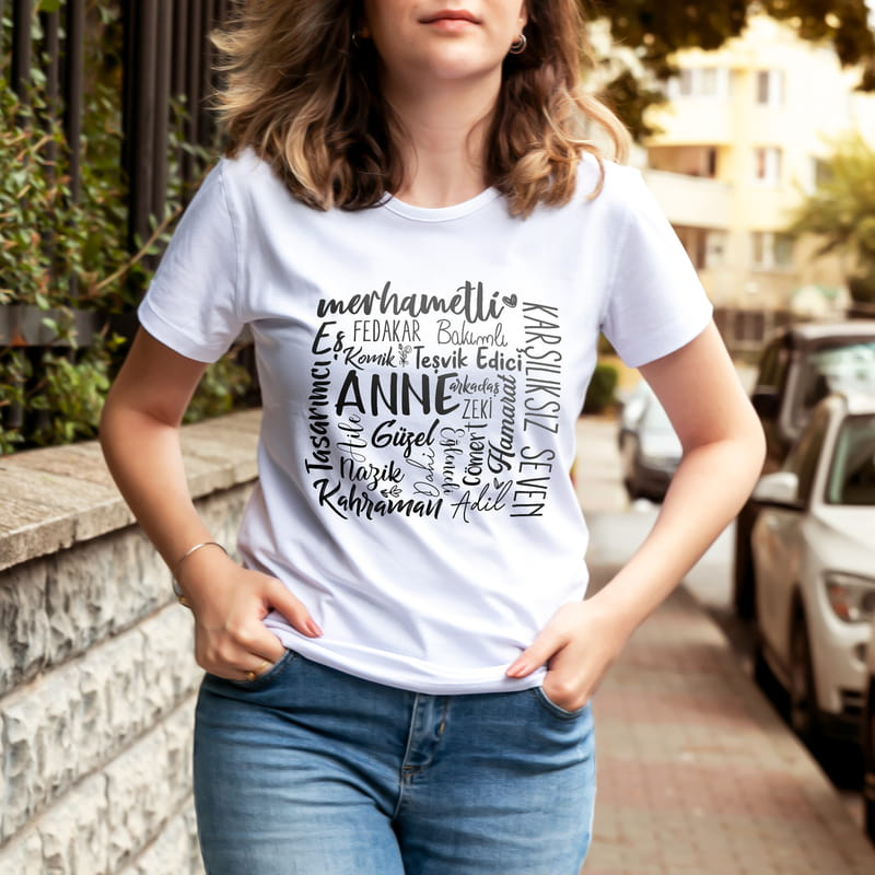 Anne Tanımı Tasarımlı Anneye Hediye Tişört